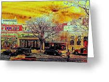 Old Town Panorama Greeting Card by Jeff Gibford