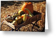 Old Wagon Full Of Autumn Fruit Greeting Card by Garry Gay