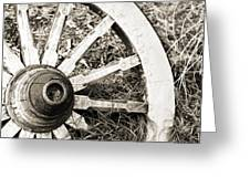 Old Wagon Wheel Greeting Card by Marilyn Hunt