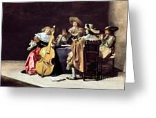 OLIS: A MUSICAL PARTY Greeting Card by Granger
