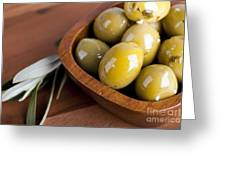 Olive Bowl Greeting Card by Jane Rix
