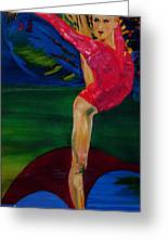 Olympic Gymnast Nastia Liukin  Greeting Card by Gregory Allen Page