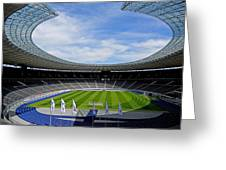 Olympic Stadium Berlin Greeting Card by Juergen Weiss