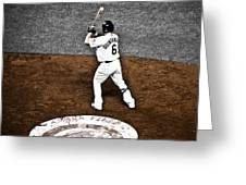 Omar Quintanilla Pro Baseball Player Greeting Card by Marilyn Hunt