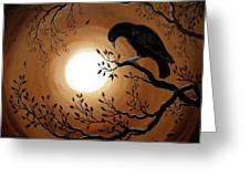 Ominous Bird Of Yore Greeting Card by Laura Iverson