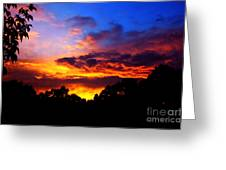 Ominous Sunset Greeting Card by Clayton Bruster