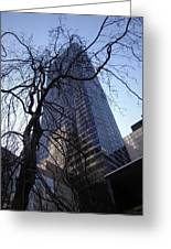 On A Clear Day...moma Courtyard Ny City Greeting Card by Arthur Miller