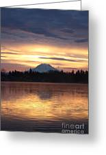 On American Lake  Greeting Card by C E Dyer