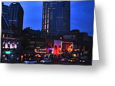 On Broadway In Nashville Greeting Card by Susanne Van Hulst
