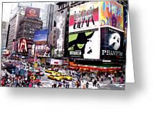 On Broadway New York Greeting Card by Rosie Brown