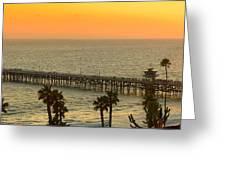 On Golden Pier Greeting Card by Gary Zuercher