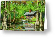 On The Bayou Greeting Card by Dianne Parks