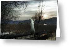 On The Bridge Greeting Card by Joana Kruse