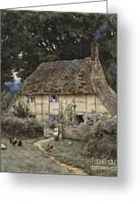 On The Brook Road Near Witley Greeting Card by Helen Allingham