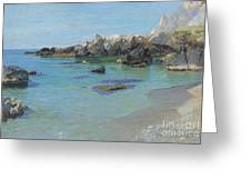 On The Capri Coast Greeting Card by Paul von Spaun