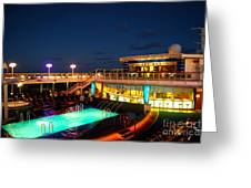 On The Cruise Greeting Card by Cesar Marino