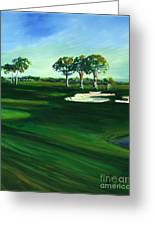 On The Fairway Greeting Card by Michele Hollister - for Nancy Asbell