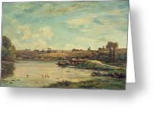 On The Loire Greeting Card by Charles Francois Daubigny