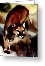 On The Prowl Greeting Card by Vic Weiford