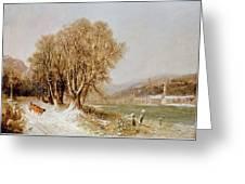 On The River Neckar Near Heidelberg Greeting Card by Joseph Paul Pettit