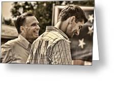 On The Road-mitt Romney Greeting Card by Joann Vitali