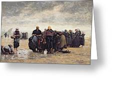 On The Shore Greeting Card by Jacques Eugene Feyen