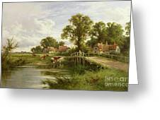 On the Thames near Marlow Greeting Card by On the Thames near Marlow