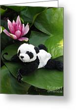 On The Waterlily Greeting Card by Ausra Paulauskaite