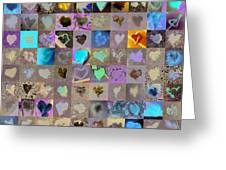 One Hundred And One Hearts Greeting Card by Boy Sees Hearts