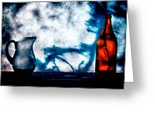 One Red Bottle Greeting Card by Bob Orsillo