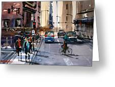 One Way Street - Chicago Greeting Card by Ryan Radke