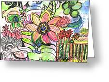 Oodles Of Doodles Greeting Card by Anne-Elizabeth Whiteway