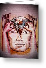 Open Mind For A New World Greeting Card by Paulo Zerbato