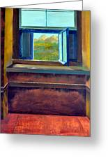 Open Window Greeting Card by Michelle Calkins