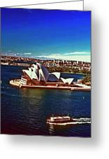 Opera House Sydney Austalia Greeting Card by Gary Wonning