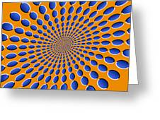 Optical Illusion Pods Greeting Card by Michael Tompsett