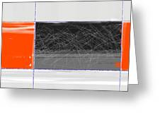 Orange And Black Greeting Card by Naxart Studio