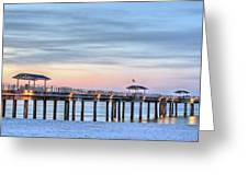 Orange Beach Pier Greeting Card by JC Findley