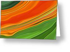 Orange Kalanchoe Abstract Greeting Card by Linnea Tober