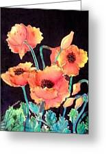 Orange Poppies Greeting Card by Francine Dufour Jones