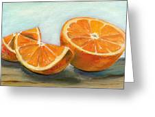 Orange Greeting Card by Sarah Lynch