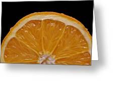 Orange Sunrise On Black Greeting Card by Laura Mountainspring