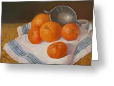 Oranges And Tangerines Greeting Card by Donelli  DiMaria