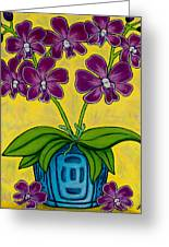 Orchid Delight Greeting Card by Lisa  Lorenz