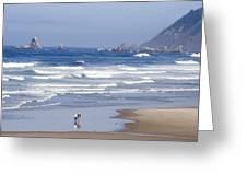 Oregon Coast Greeting Card by Elvira Butler
