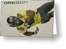 Oregon Ducks Lamichael James Greeting Card by Ryne St Clair