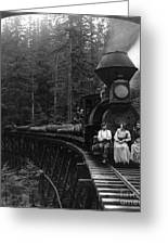 Oregon: Logging Train Greeting Card by Granger