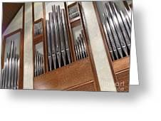 Organ Pipes Greeting Card by Ann Horn