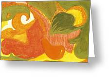 Organic Conversation Greeting Card by Anne-Elizabeth Whiteway