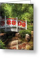 Orient - Bridge - Tranquility Greeting Card by Mike Savad